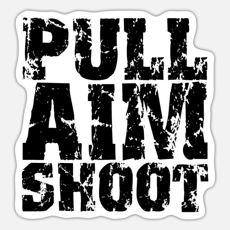 Portrait American Skeet Shooter Sticker