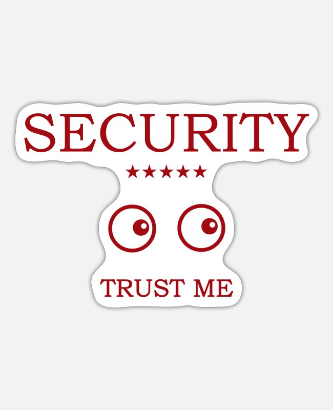 Secret Stickers - Security Eyes looking - Sticker white matte