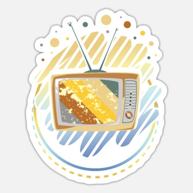 Tv TV vintage - Sticker