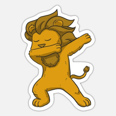 Have Young Dabbing Lion - Sticker