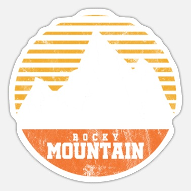 Rocky Mountains Rocky Mountain Rockies Travel Mountaineer Camping - Sticker