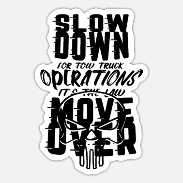 Shirtstow Truck TOW TRUCKER: It's The Law Move Over - Sticker