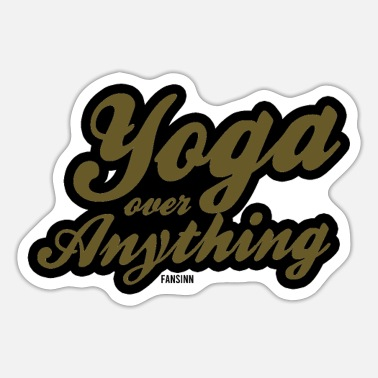 Yoga Sayings Yoga saying gift - Sticker
