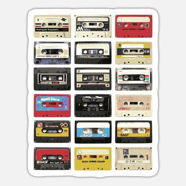 Audio Audio Cassette Retro - Sticker