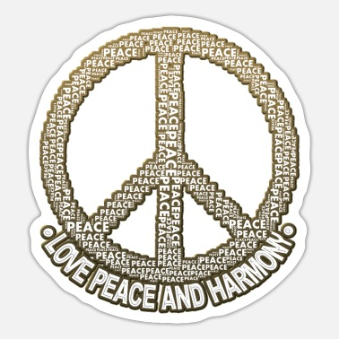 Hippie Hippie Hippie Costume Hippies Carnival Peace - Sticker