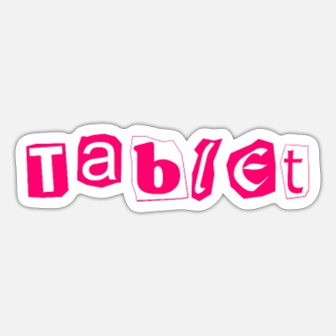 Tablet tablet - Sticker