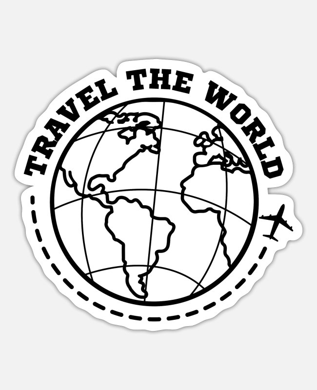Wanderlust Stickers - World Travel Travel - Sticker white matte