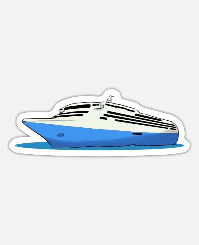 Sail Boat Stickers - Cruise Ship Cruise ship, cruise - Sticker white matte