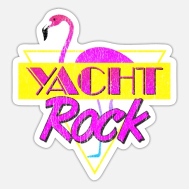 Toto Yacht Rock Party Boat Drinking Stuff 80s Faded - Sticker