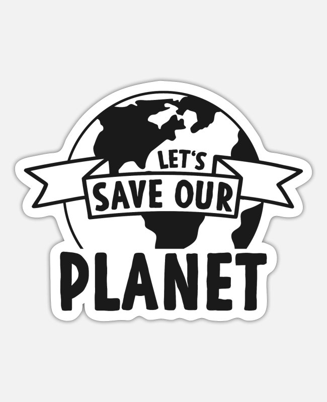 Earth Stickers - Climate Change Protection - Sticker white matte
