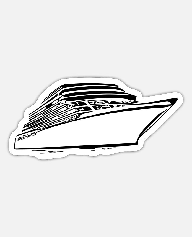 Navigation Stickers - Elegant ship outfit - Sticker white matte