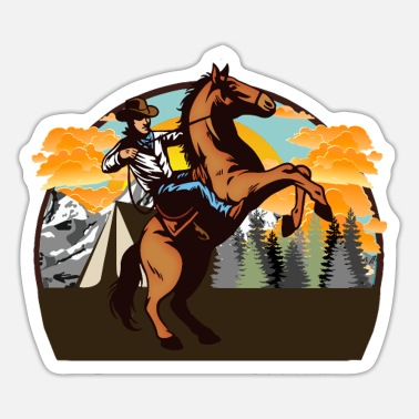 Western Riding Western Riding, Western - Sticker