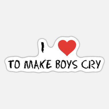 Frauenpower I love to make boys cry - Sticker