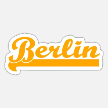 Berlin berlin, germany, berlin bear, german, berliner - Sticker