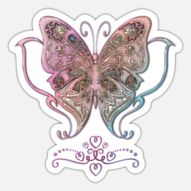 Nobleness Beautiful noble butterflies - Sticker