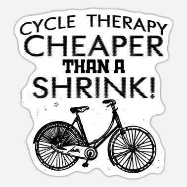 Funny Cycling Cycle Therapy Funny Cycling Bicycle - Sticker