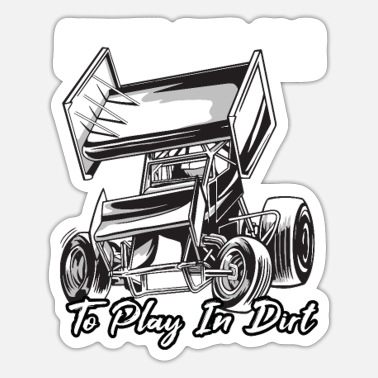 Cars SPRINT CAR / DIRT TRACK RACING: Play In Dirt - Sticker