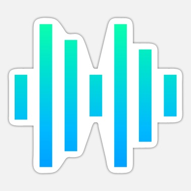 Audio audio waves illustration - Sticker