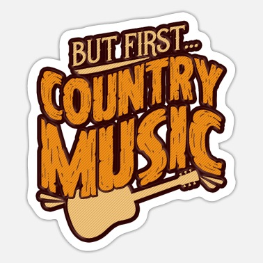 Countrymusic Country Music Guitar - Sticker
