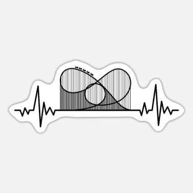 Roller Roller coaster heartbeat - Sticker
