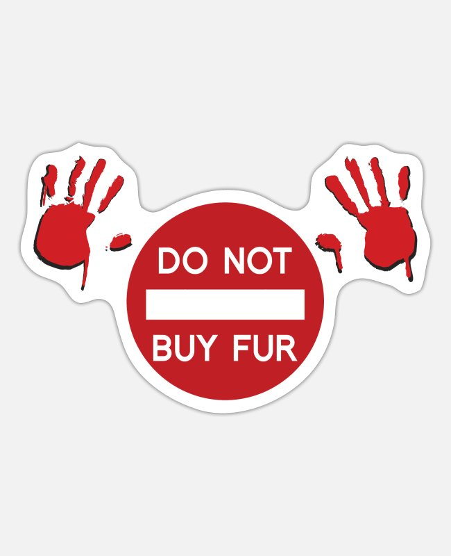 Trade Stickers - Do not buy Fur - Sticker white matte
