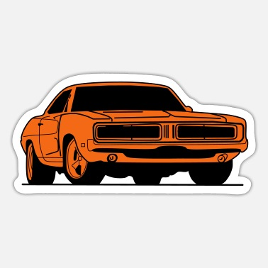 Vintage Car vintage car v8 musclecar - Sticker