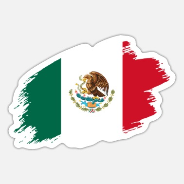Central Mexico Mexico mexican flag banner central america - Sticker