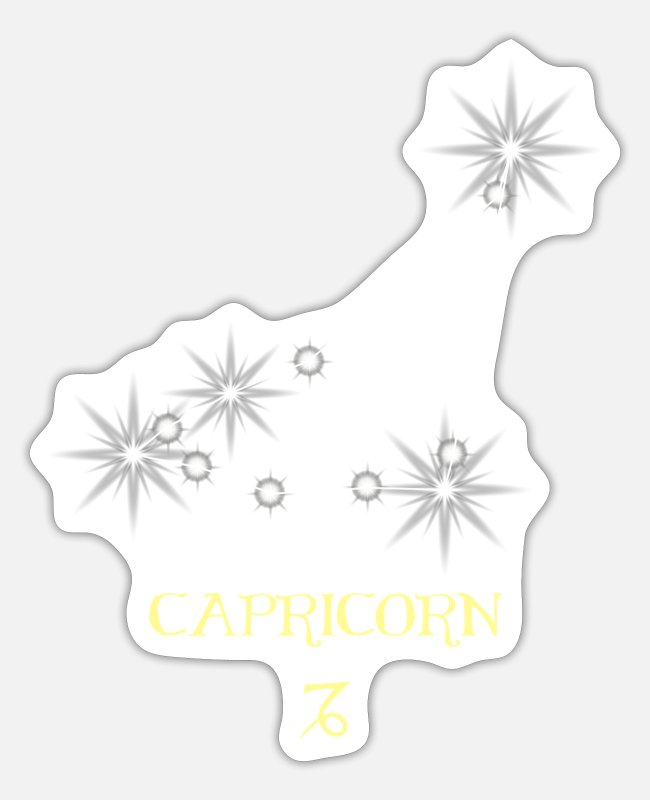Capricorn Stickers - Capricorn - Sticker white matte
