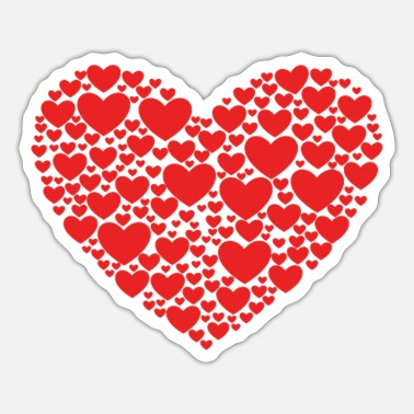 Heart Heart in heart - Sticker