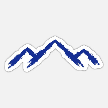 Mountain Sports Mountain mountaineering sport mountain running - Sticker