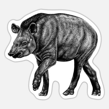 South American South American Tapir - Sticker