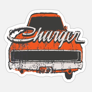 Charger Distressed Charger - Sticker