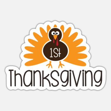 1st 1st Thankgiving - Sticker