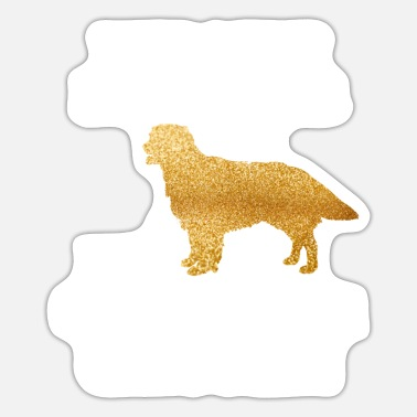 Cute Golden Retriever Golden Retriever Glitter Shirt Goldens Owners Cute - Sticker