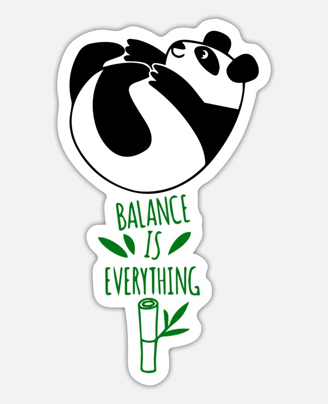 Libra Stickers - balance is everting - Sticker white matte