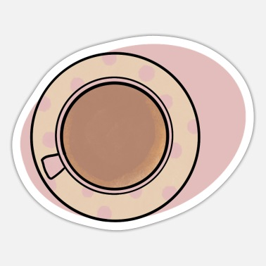 Tea Coffee Cup / Cute Coffee Dates - Sticker