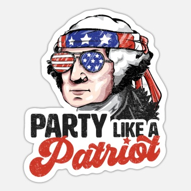 Election Party Like a Patriot USA President Washington - Sticker