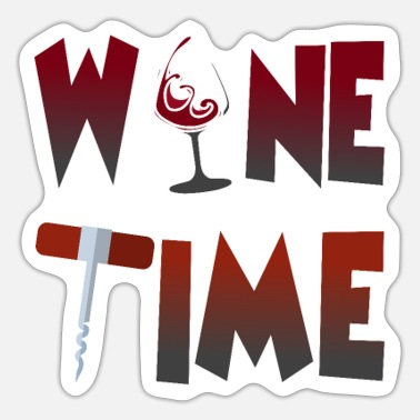Corkscrew Wine Time Wine Wine Glass Corkscrew Wine Festival - Sticker