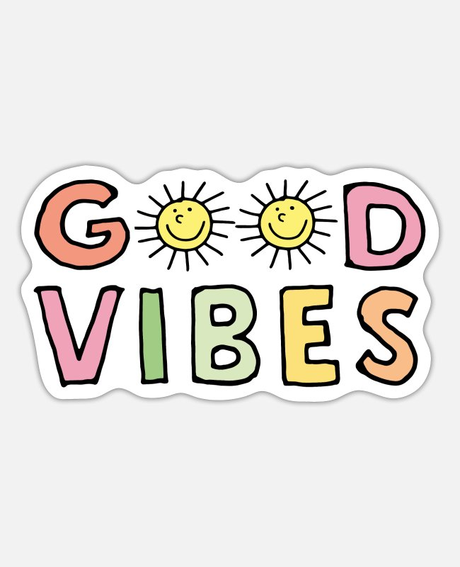 Vibes Stickers - Good vibes - Sticker white matte