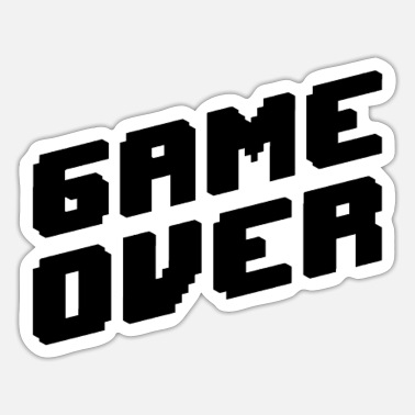 Gaming Game Over Game Play Game Gaming Gambling Console - Sticker