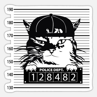 Mugshot Mugshot Cat - Sticker