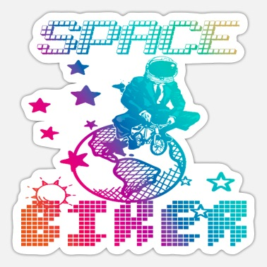 Bmx Grandfather SPACE BIKER, motorcycle, bicycle, bike, funny - Sticker