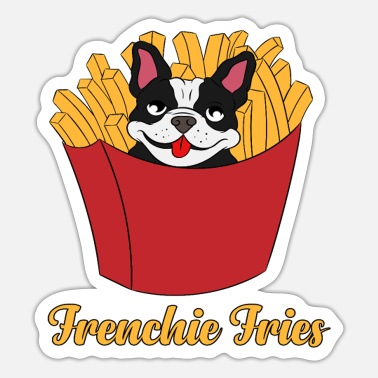 Fries Awesome & Trendy Frenchie Fries Tshirt Designs - Sticker