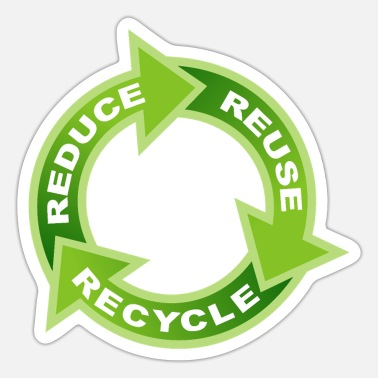 Enviromental Reduce Reuse Recycle Circle - Sticker