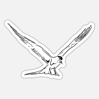 Baltic Sea Floating seagull at North Sea and Baltic Sea coast - Sticker