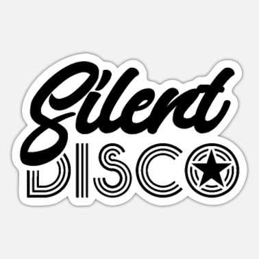 Silent Party Silent Disco Parties Dancing Silent Party - Sticker