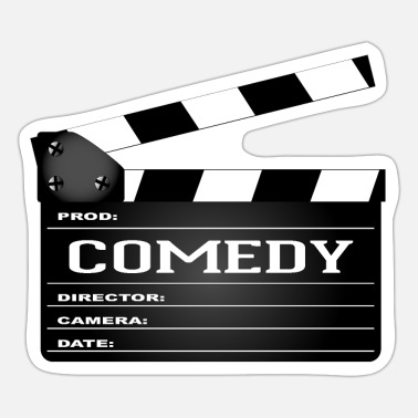Comedy Comedy Movie Clapperboard - Sticker
