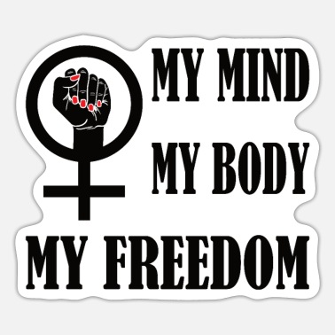 Feminist Woman Rights Woman Power - Sticker