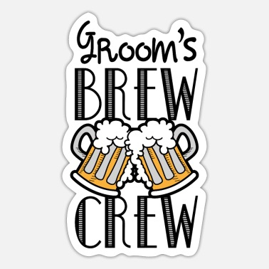 Groom Text Groom's Brew Crew - Sticker