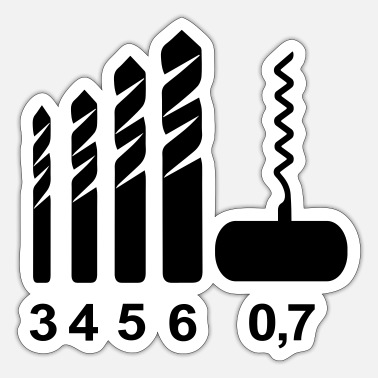 Corkscrew Corkscrew Drill Bits - Sticker